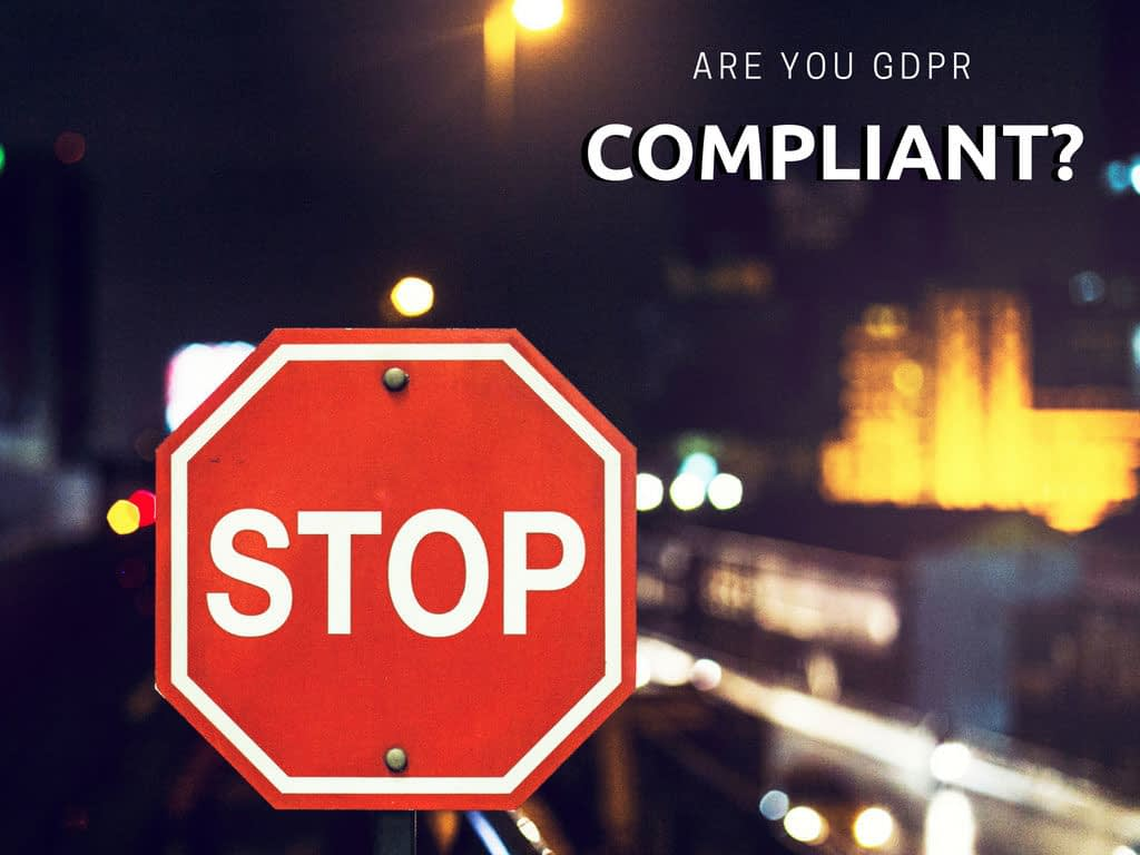 GDPR compliant stop sign