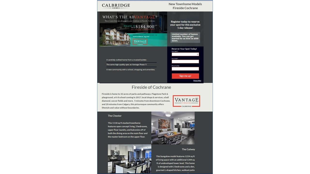 Calbridge Landing Page
