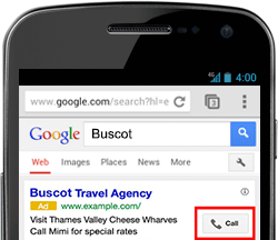 Mobile Google Call Only Ad