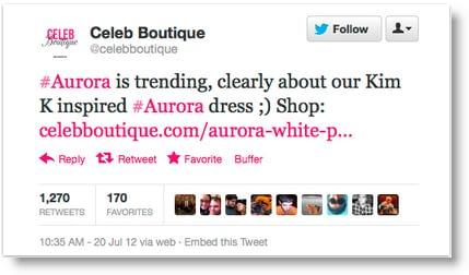 celeb boutique tweet